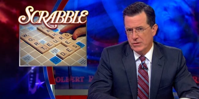Stephen Colbert Takes News of 5000 New Scrabble Words Rather Harshly on The Colbert Report