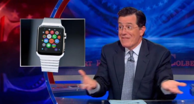 Watch Colbert On The Unveiling Of The Apple Smartwatch VIDEO