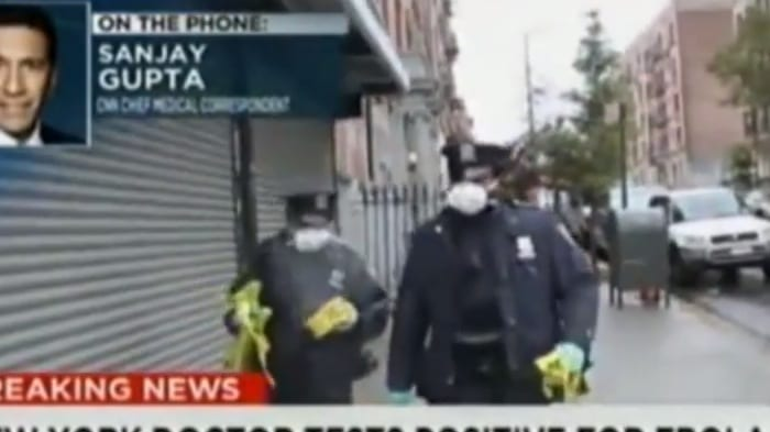 VIDEO Watch NYPD Officers who responded to NYC Doctor with Ebola toss protective suits in the garbage