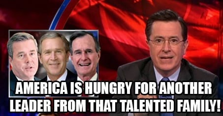 Colbert Jeb Bushs Presidential Ambitions VIDEO