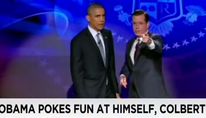 Obama takes over The Colbert Report VIDEO