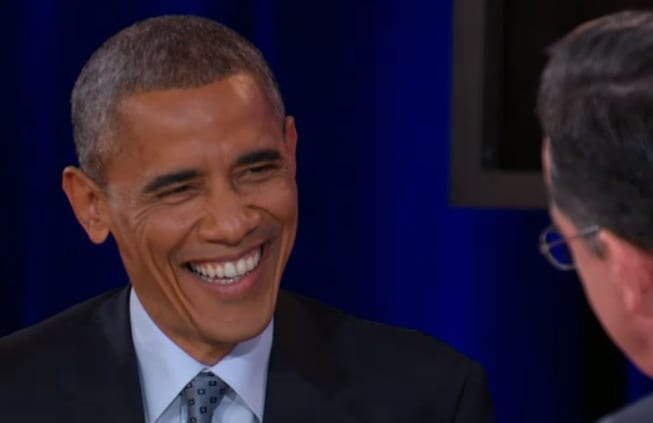 Part 2 Obama takes over The Colbert ReportVIDEO
