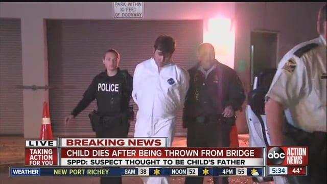 5 year old dead after dad threw her off bridge in Florida police say