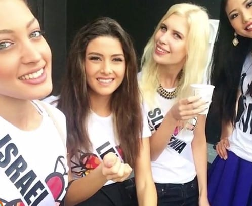 Miss Lebanons selfie with Miss Israel stirs up controversy in Middle East