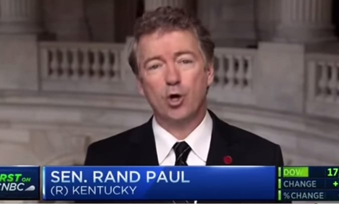Rand Paul Tears into CNBC Anchor for Misleading Questions on Vaccines