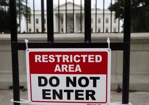 Another Person Jumps White House Fence Arrested VIDEO