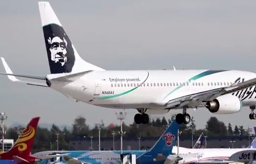 Pilot hears worker trapped in cargo hold of Alaska Airlines VIDEO