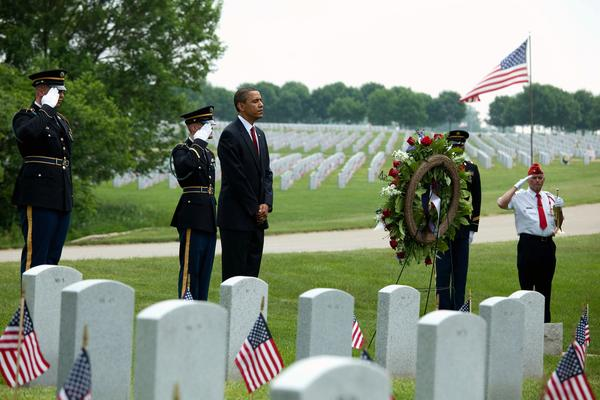 Memorial Day American honors and remembers. Pres. Obama visits Arlington National Cemetery