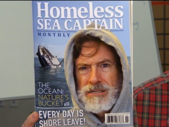 Stephen Colbert Surfaces with The Colbeard