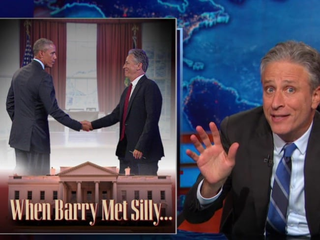 Jon Stewart On WH Visits Obama Wanted to Know Why I'm 'Such an Asshole'