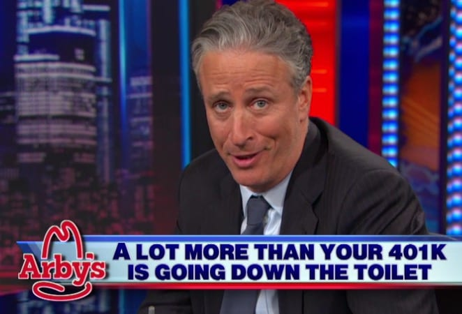 Jon Stewart 'eviscerates' news coverage of The Daily Show VIDEO