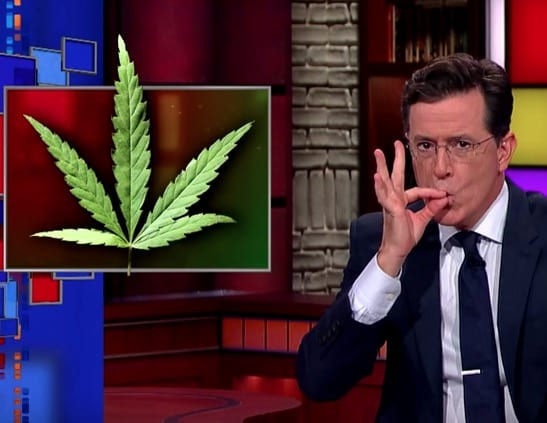 Colbert Welcome To The First Church Of Cannabis VIDEO