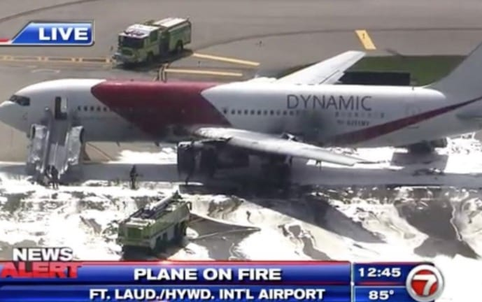 Boeing 767 Catches Fire at Ft. Lauderdale Airport