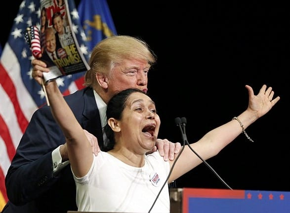Watch Trump And His Screaming Colombian Supporter VIDEO
