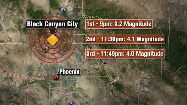A Succession Of Earthquakes Hit Phoenix VIDEO