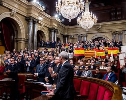 Catalan Parliament Starts Secession Process From Spain VIDEO