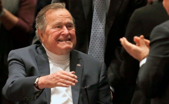 George HW Bush The reaction to 911 what to do about the Middle East. Just iron ass