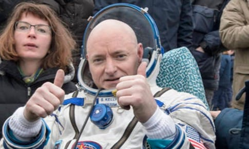 NASA's Scott Kelly Back From Record Year Trip VIDEO