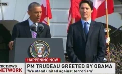 PM Trudeau Greeted By Obama At WH