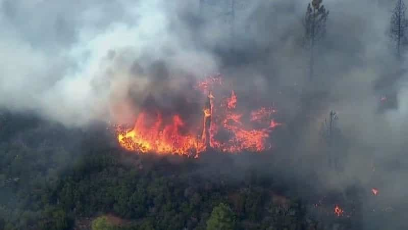 Fire Threatening 1200 Homes In Central Oregon