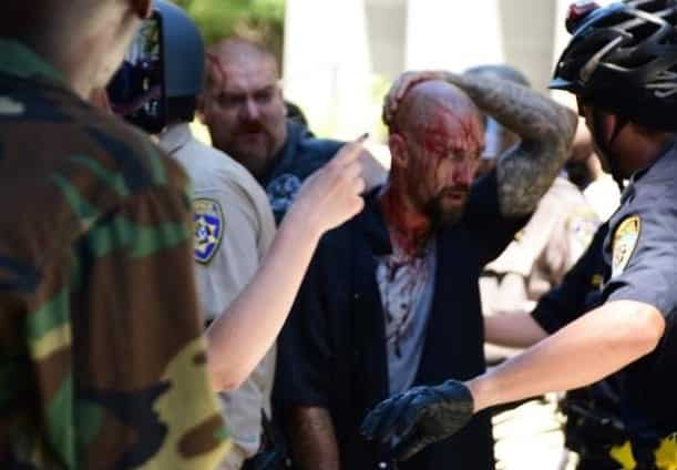 Five Stabbed at Neo Nazi Rally for Trump