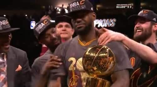 LeBron James Keeps his Promise Bring Title to Cleveland VIDEO
