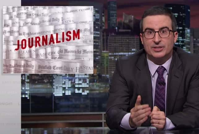 John Oliver On Why Local Newspapers Are So Important VIDEO