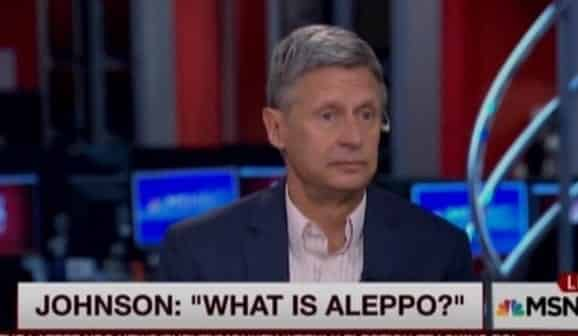Gary Johnson stuns 22Morning Joe22 hosts by asking 22What is Aleppo