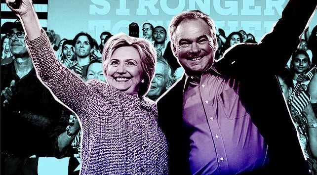 Hillary Clinton Tim Kaine campaigning in Cleveland on Labor Day