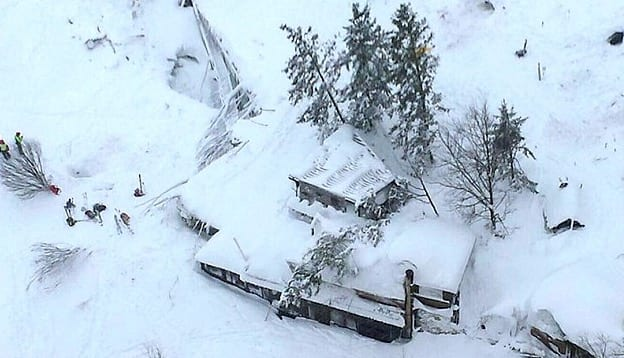 At Least 30 People Dead As Avalanche Hits Italian Hotel VIDEO