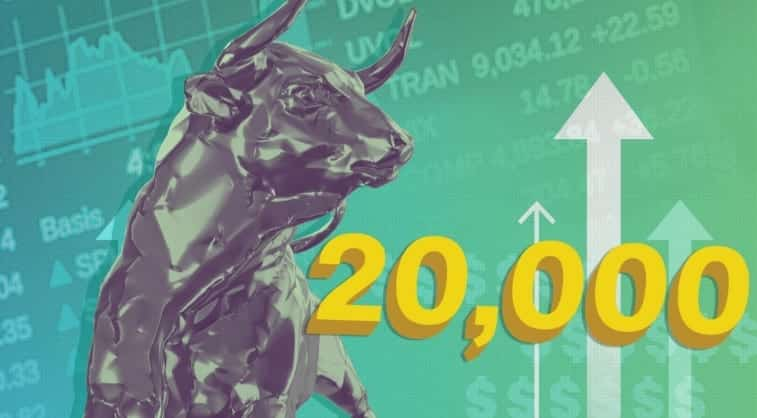 DOW Hits 20000 For The First Time Ever