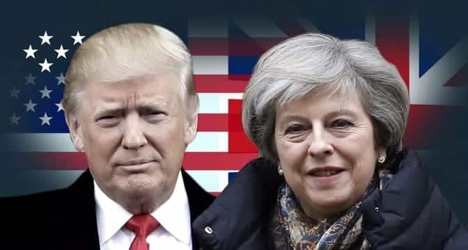 President Trump To Meet With British Prime Minister Theresa May