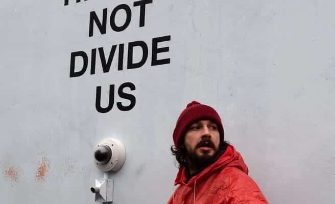 Shia LaBeouf Arrested At 22He Will Not Divide Us22 Protest In Queens