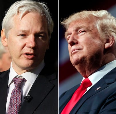 TrumpSides With Assange On Russia Hacking