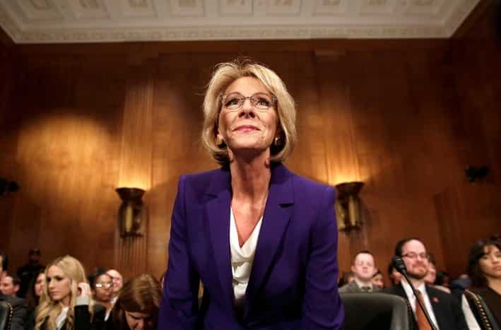 Pence Casts Vote To Confirm Betsy DeVos as Education Secretary