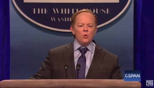 Trump Upset a Woman Made Fun of Spicer