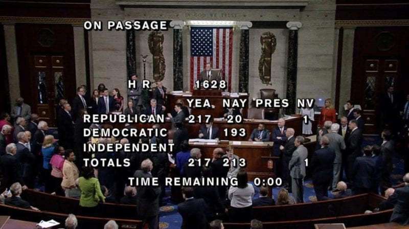 HouseRepublicans Passes Bill To Replace Obamacare