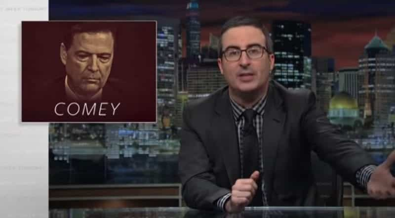 John Oliver Comey Cover Up Is Pack Of Lies VIDEO