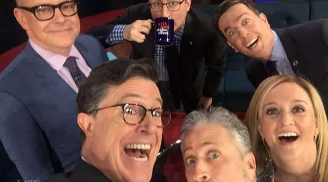Jon Stewart Defends Colbert's During Daily Show Reunion VIDEO 1