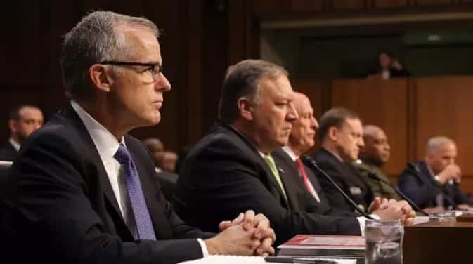 Coats Rogers Rosenstein McCabe Are Testifying Today At Senate Intel 1