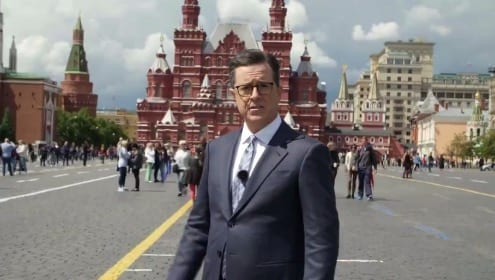 Colbert Jokes About Trump And Russian Collusion On Russian State Late Night TV