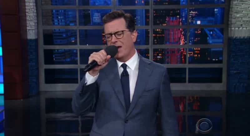 Stephen Colbert Sings Farewell To Anthony Scaramucci VIDEO