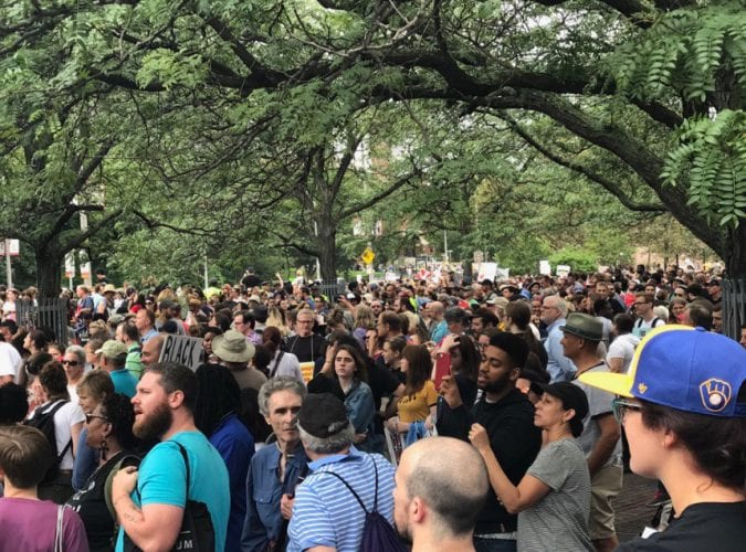 Thousands Converge At Free Speech Rally And Counterprotest