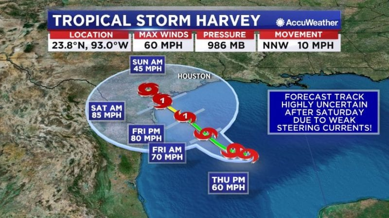 Tropical Storm Harvey Strengthens As It Approaches Texas