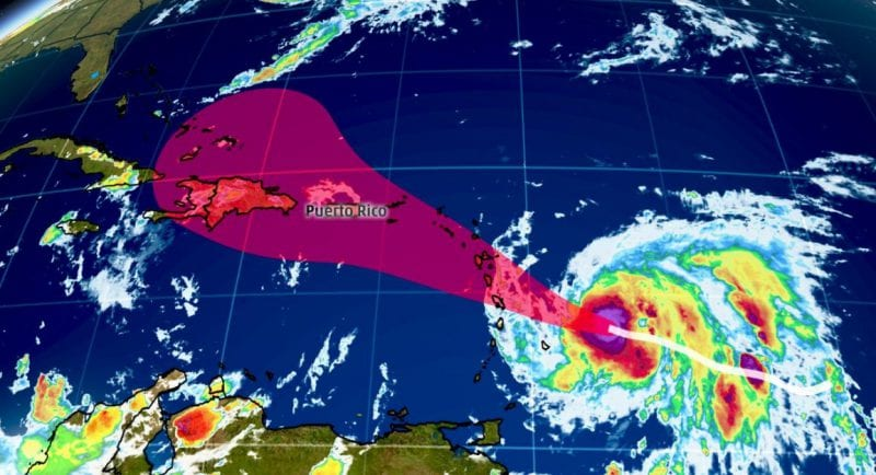 HurricaneMaria Intensifies Into Category 3 Storm
