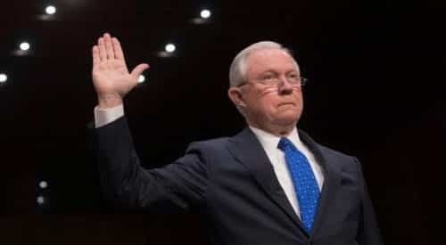 Jeff Sessions Testifies On Comey Russia Investigation At Senate Hearing