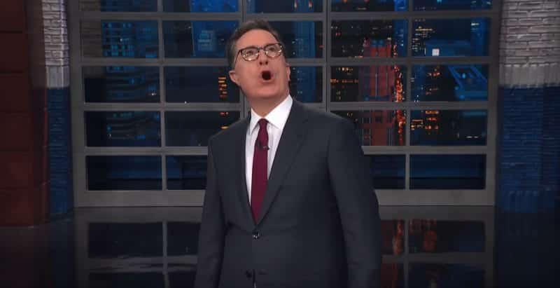 Watch Colbert Takes On Trump Space Force VIDEO