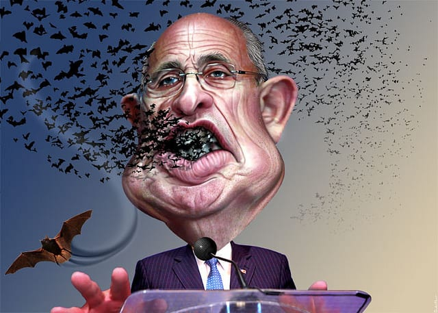 giuliani bats coming out of mouth
