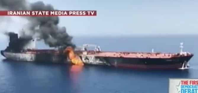 Iran blamed for attack on oil tankers
