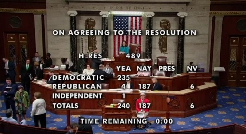 House Votes To Condemn Trumps Racist Comments